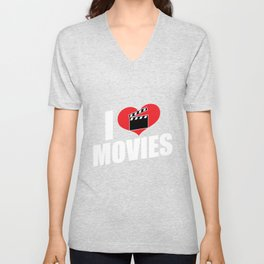 Movies Passion - I love movies Unisex V-Neck