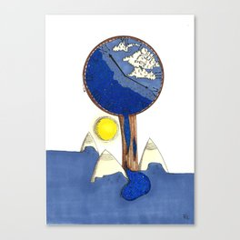 Time of world Canvas Print