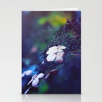 hydrangea Stationery Cards featuring Hydrangea by Nikita Gill