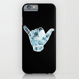 Turquoise Ocean Waves Hang Loose iPhone Case