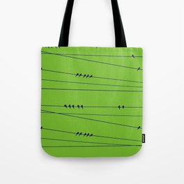 Many Birds on a Wire Tote Bag