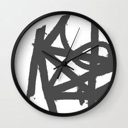 BRUSH STROKES Wall Clock