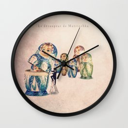 The Matryoshka opener Wall Clock
