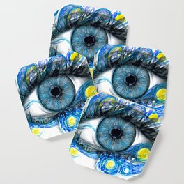 Starry Night Eye Artwork Coaster