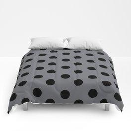 Grey & Black Polka Dots Comforters