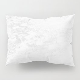 White Marble Silver Glitter Gray Pillow Sham