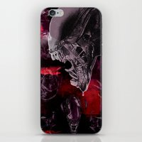 "xenomorph iPhone & iPod Skins featuring Alien Xenomorph ""Xenomorphobia"" by judgehydrogen"