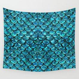 Mermaid Scales Design Wall Tapestry
