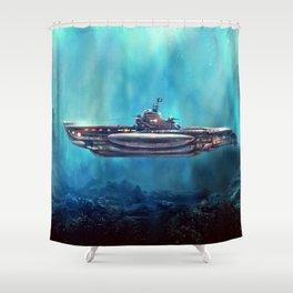 Pirate Submarine Shower Curtain