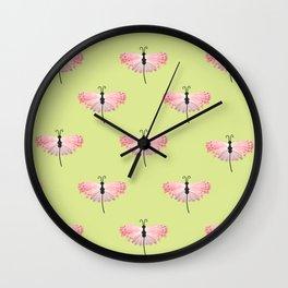 Tropical Butterfly on Gossamer Wings  Wall Clock