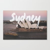 sydney Canvas Prints featuring Sydney by Tinne Cornelissen