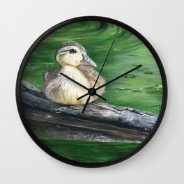 The Wood Duckling by Teresa Thompson Wall Clock