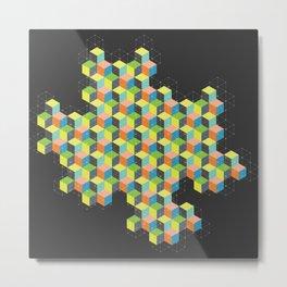 Island of Cubes Metal Print