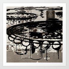 Architect Invader Art Print