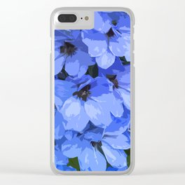 Lupins are Blue Clear iPhone Case