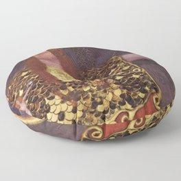 Pallas Athena Gustav Klimt Floor Pillow