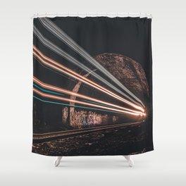 LASER TRAIN Shower Curtain