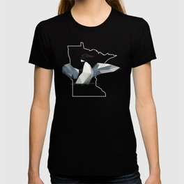 Minnesota - Common Loon (Black) T-shirt