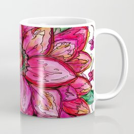 Vibrant Watercolor Flower Coffee Mug