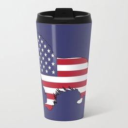 "Border Collie ""American Flag"" Travel Mug"