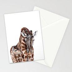 Giraffe with Baby Giraffe Stationery Cards
