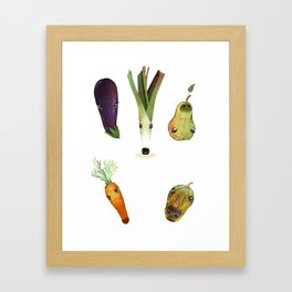 Veggie Doggos Framed Art Print