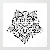 pentagram Canvas Prints featuring Pentagram by Captain Dibbzy