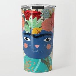 Frida Cathlo Travel Mug