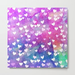 Hearty Watercolor Metal Print