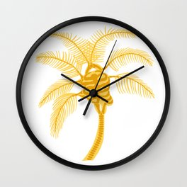 Skeleton Palm Tree White Wall Clock