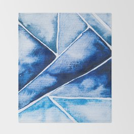 Blue Triangles Throw Blanket