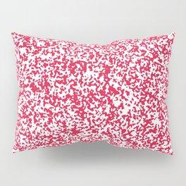 Tiny Spots - White and Crimson Red Pillow Sham