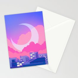 Dreamy Moon Nights Stationery Cards