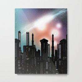 Future Town Metal Print