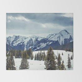 Rocky Mountains Throw Blanket