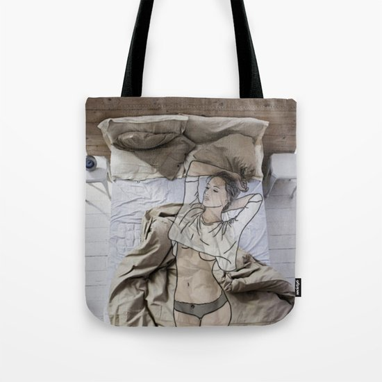 A day in bed Tote Bag