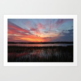 Sunset And Reflections 2 Art Print