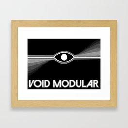 VOID Modular eye logo inverted Framed Art Print