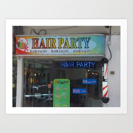 Hair Party Art Print