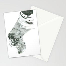Great dane - harlequin Stationery Cards