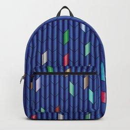 Blue Metalic Backpack