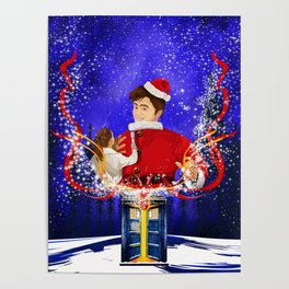 10th Doctor celebrate christmas Poster