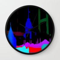 istanbul Wall Clocks featuring Istanbul by Duru Eksioglu