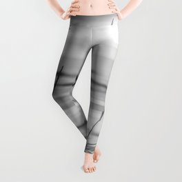 Black and White Ocean Dream Leggings