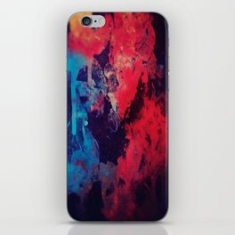 black paint iPhone Skin