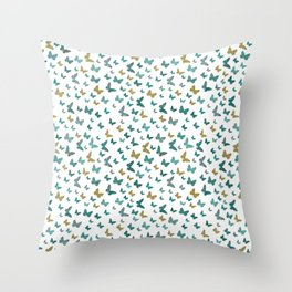 butterflies_yellow Throw Pillow