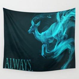 Always: [spectral deer] Alan Rickman tribute Wall Tapestry