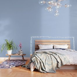 Solid Angel Blue Pastel Simple Solid Color All Over Print Wallpaper