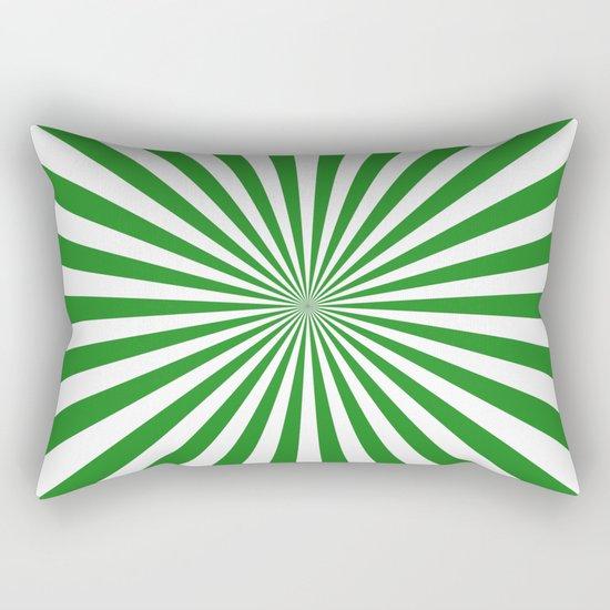 Starburst (Forest Green/White) Rectangular Pillow