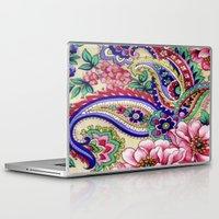 deco Laptop & iPad Skins featuring Floral Deco by Elena Indolfi